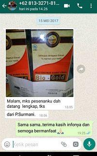 Testimoni Bio Gold 6