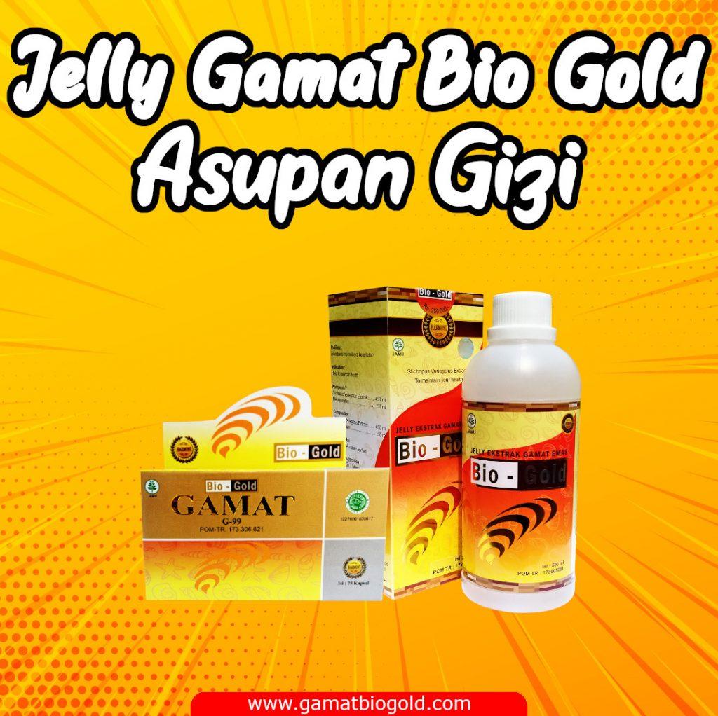Asupan Gizi Degan Konsumsi Jelly Gamat Bio Gold